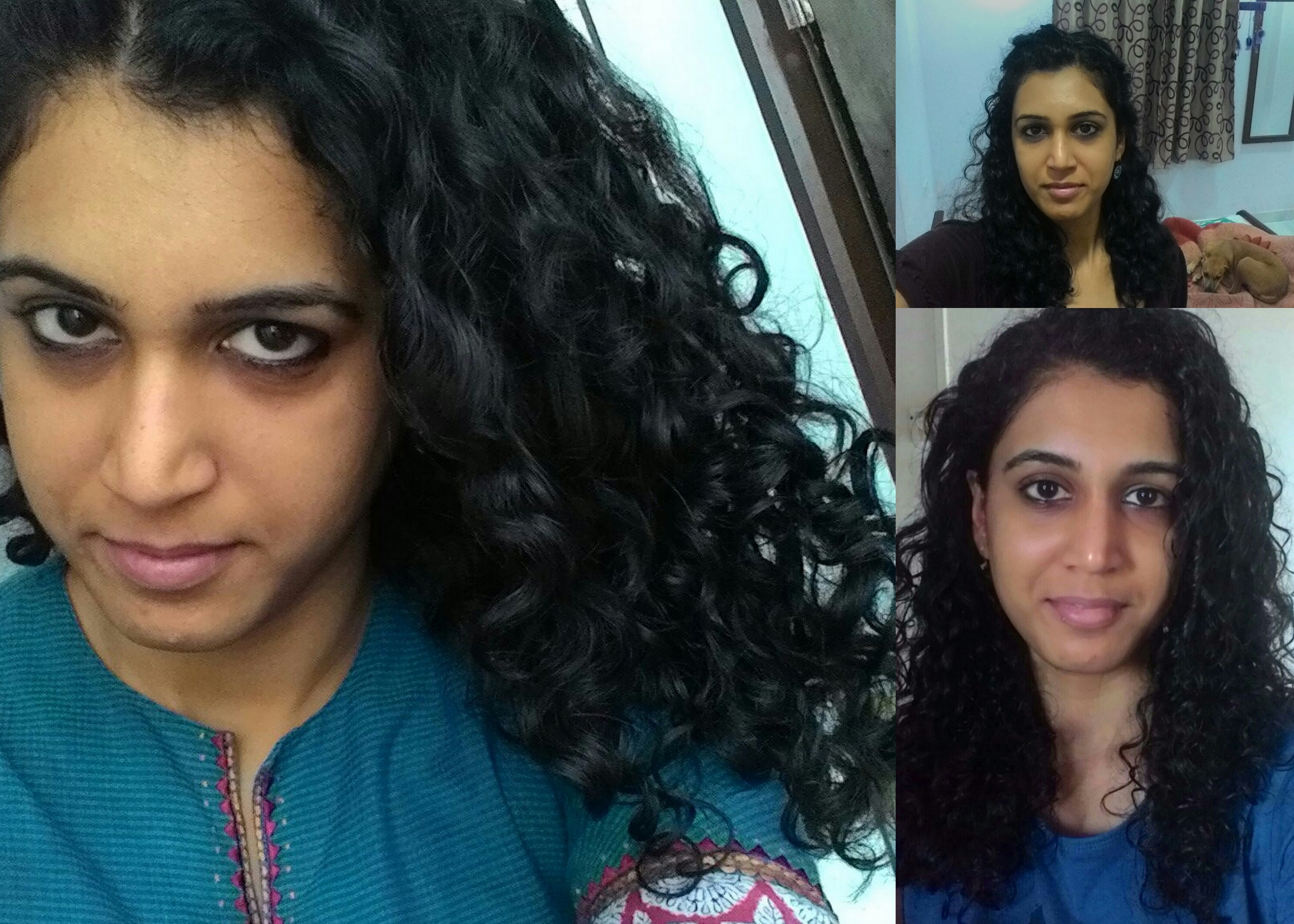 indian curly hair routine - shubhada - right ringlets
