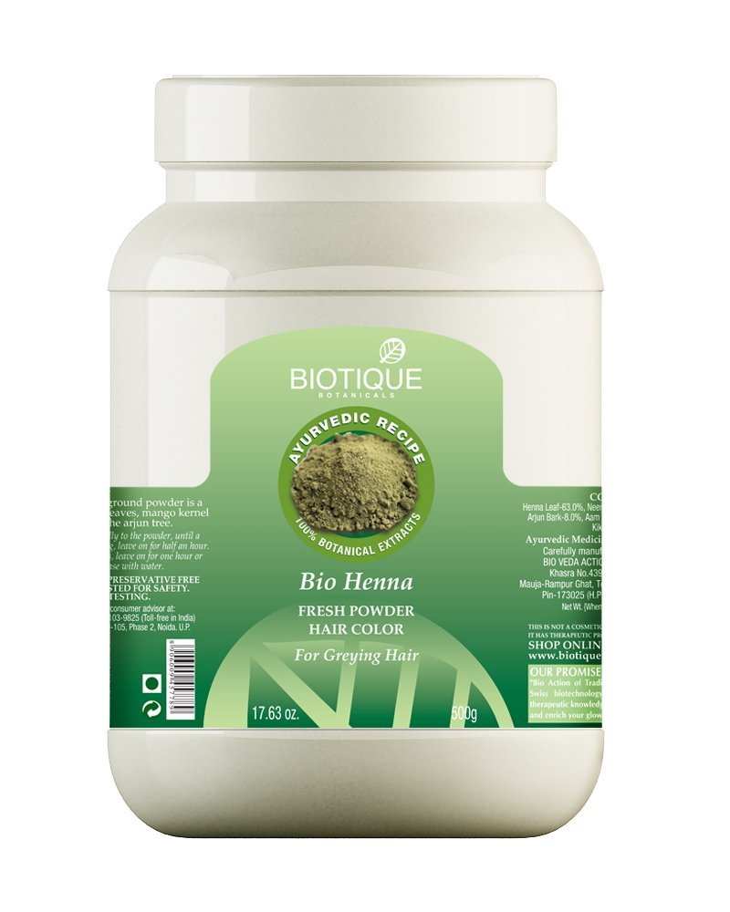 Curly Hair Products Ashba Botanics Biotique Bio Henna Leaf Powder